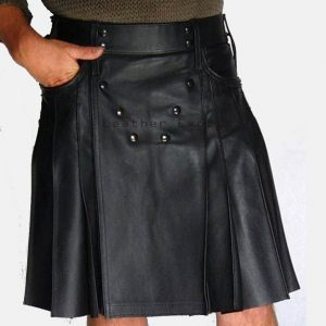 Buy gothic and cool mens leather kilts online