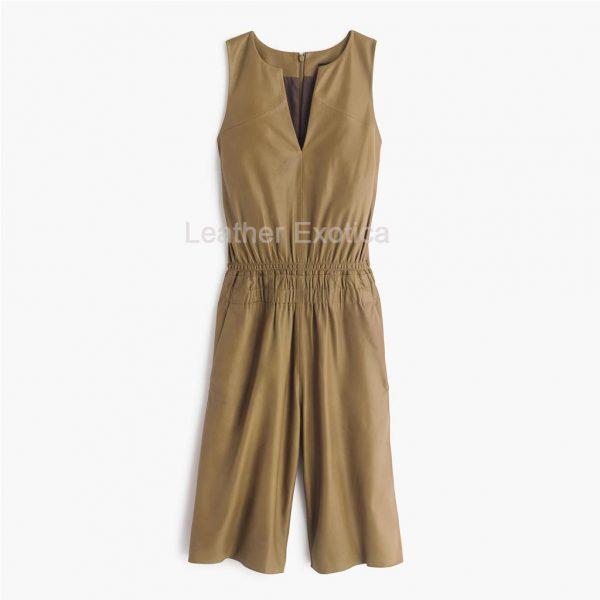 women leather playsuit