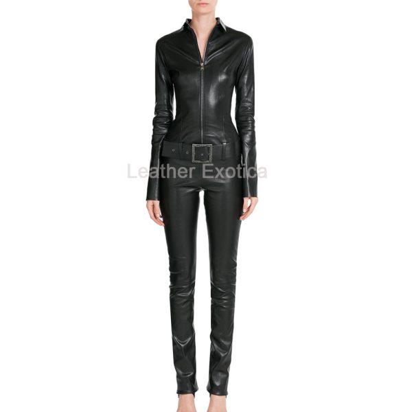 Designer Leather Jumpsuit