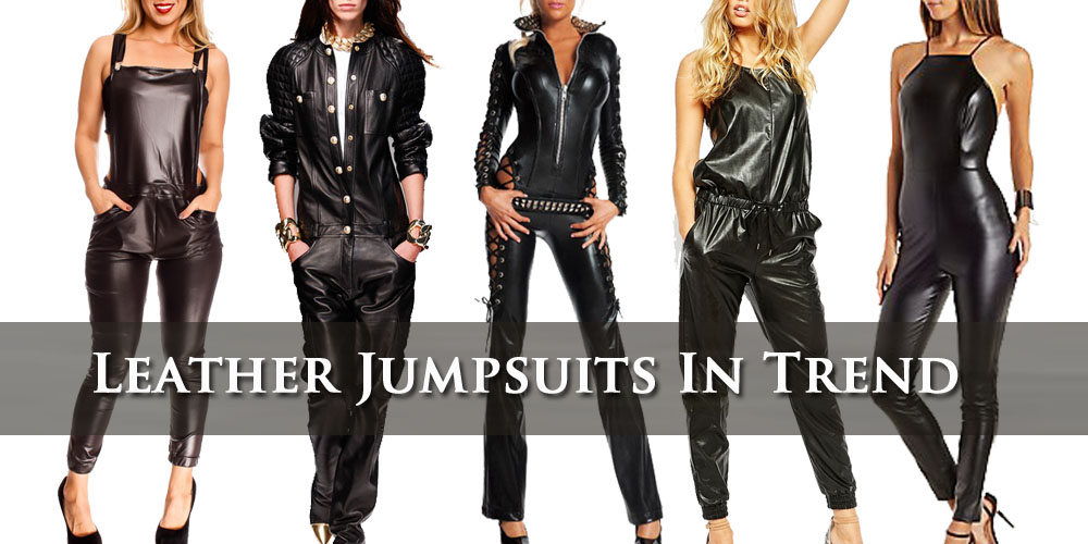 Leather jumpsuits