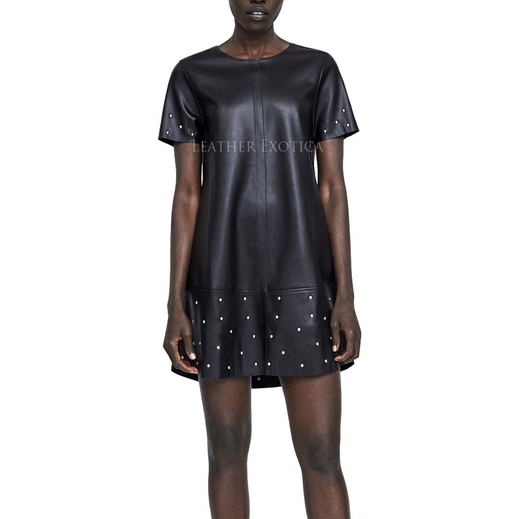 Зара Платье Из Искусственной Кожи