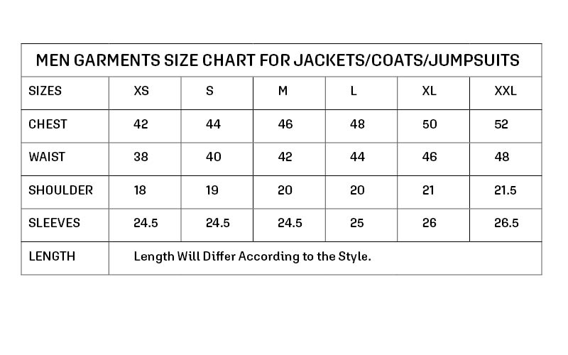 Size Guide   Size Chart